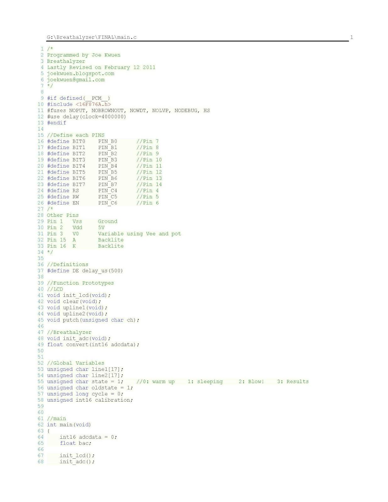 Breathalyzer 2 Wiring Diagram Codes