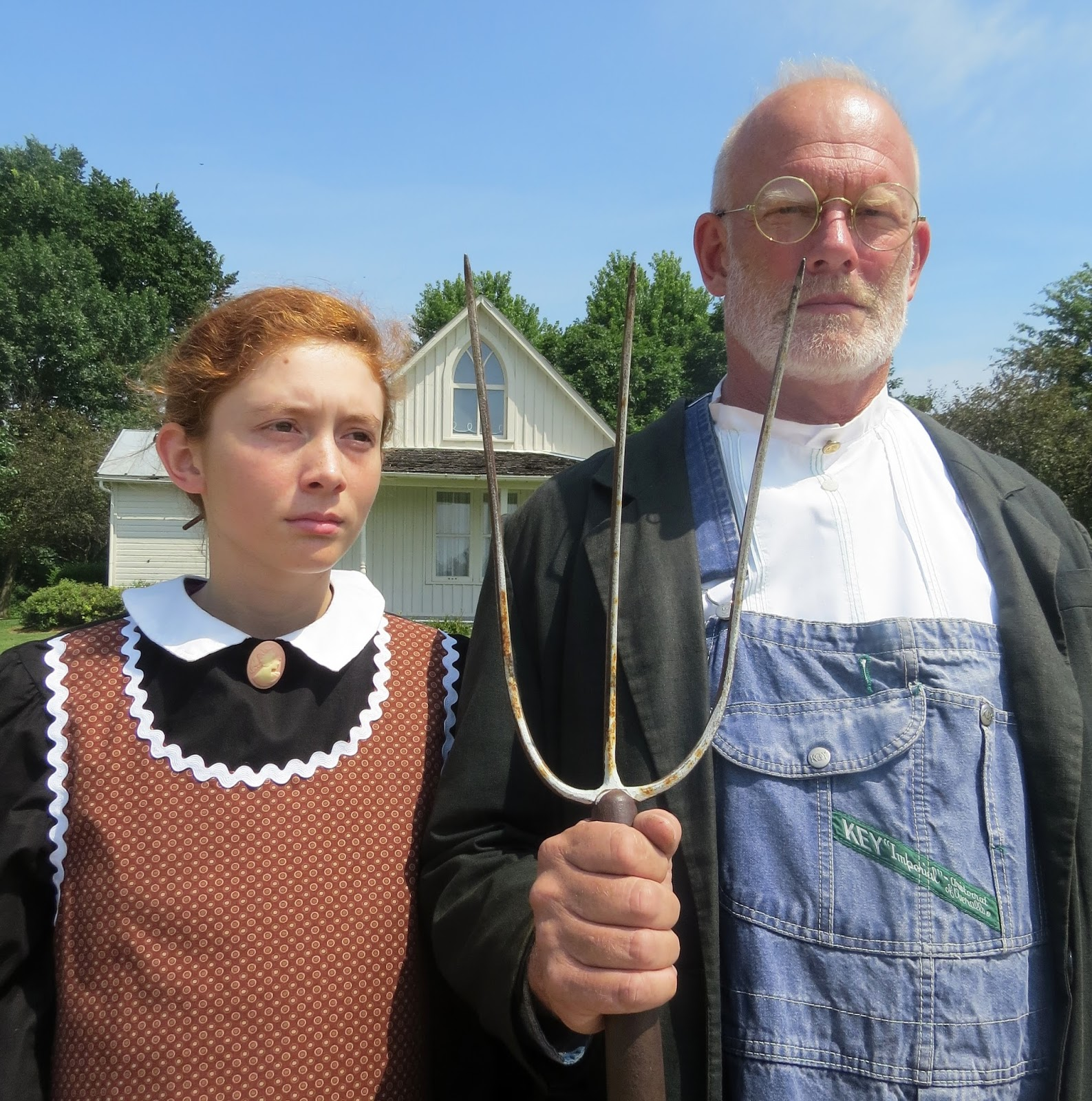A Welcome Center Is Nearby Filled With Information About The House Painting And Artist Many Parodies Of American Gothic