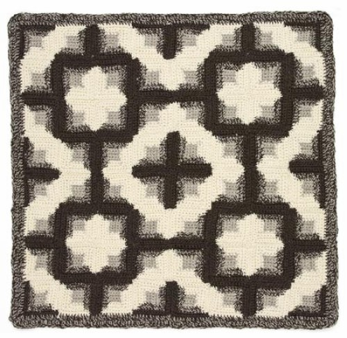 Log Cabin Afghan - Free Pattern