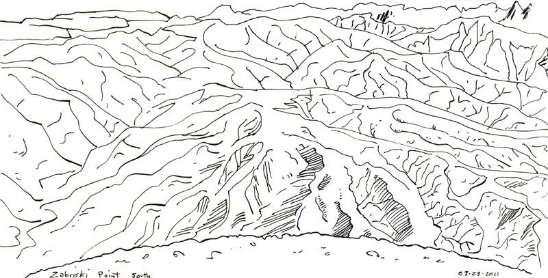 Sketch Pistols Bay Area: Drawing in Valley. on