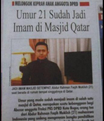pemuda imam masjid qatar 21 tahun