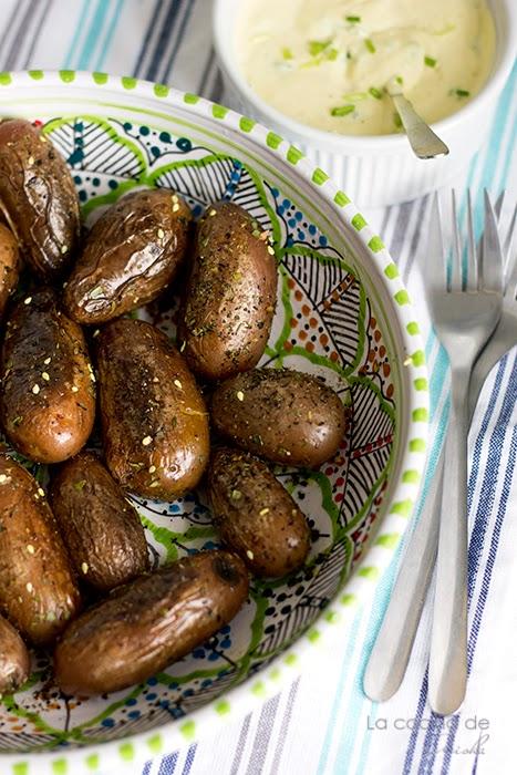 Patatas Baby Con All-i-oli De Cebollino