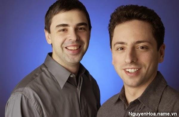 Bộ đôi đồng sáng lập Google - Larry Page và Sergey Brin.