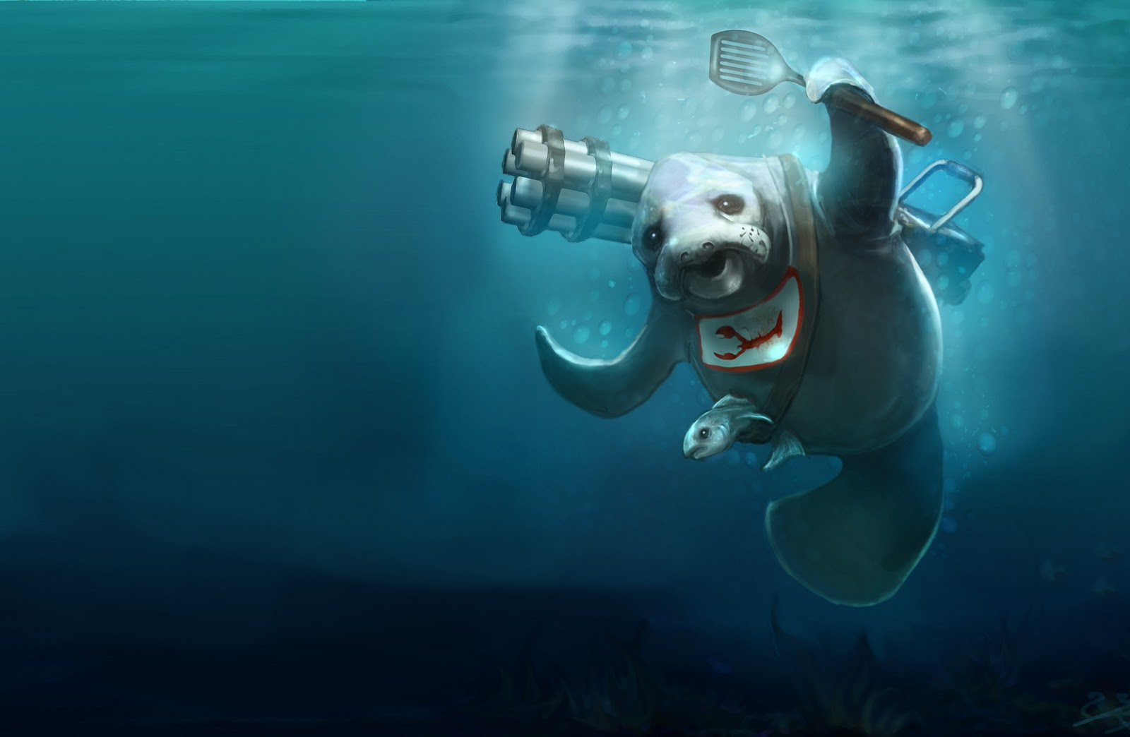 It s possible Riot will release both characters on April fools  which    Urf The Manatee Wallpaper