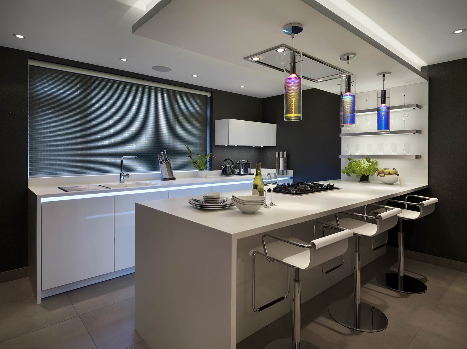 Excellent diane berry kitchens client kitchens october for Suspension cuisine blanche