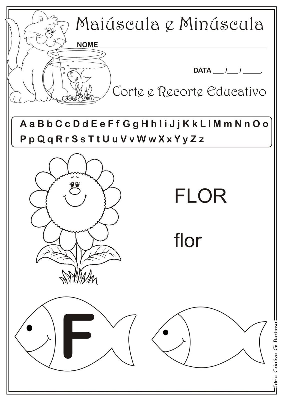 Top Caderno de Atividades Grátis para imprimir - Corte e Recorte  RG62