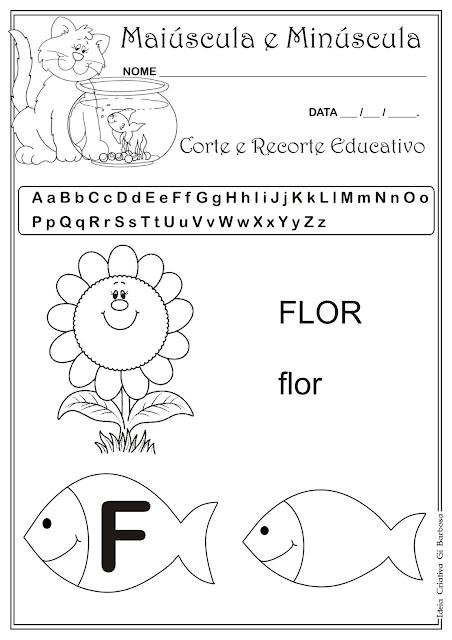 Caderno de Atividades Grátis para imprimir - Corte e Recorte Educativo