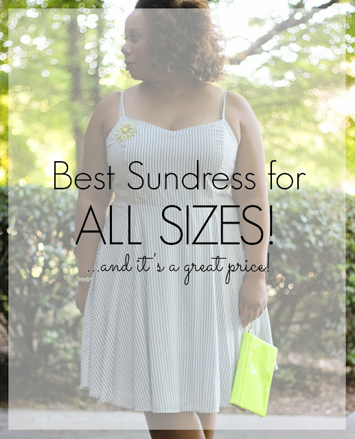 Curvy, Petite Outfit Ideas | Professional and Casual-Chic Fashion and Style Inspiration | The best dress for all sizes: Old Navy's Strappy Sun Dresses - (Weekend Style)