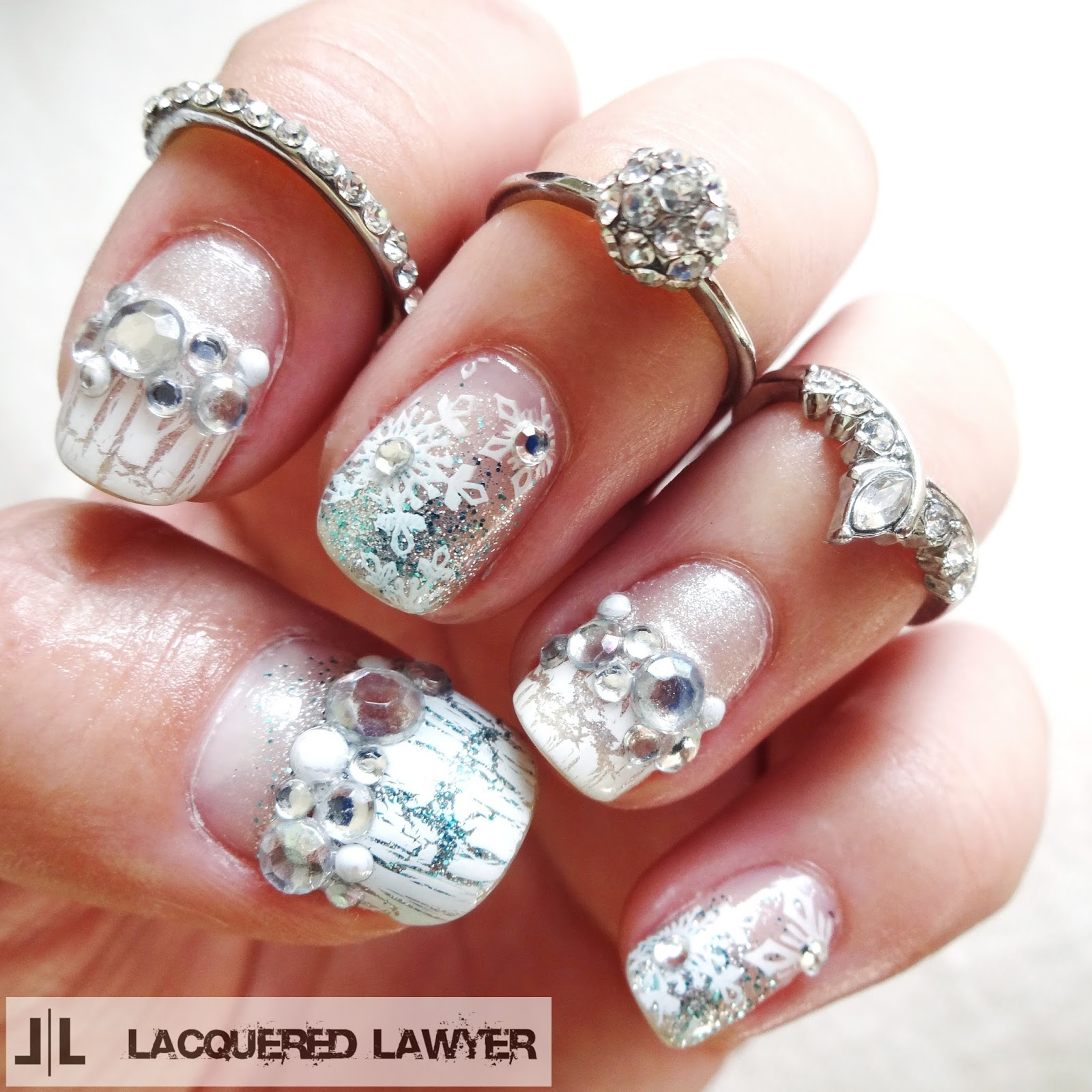 Ice Queen Nail Art