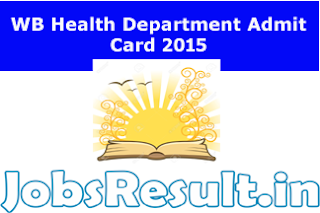 WB Health Department Admit Card 2015