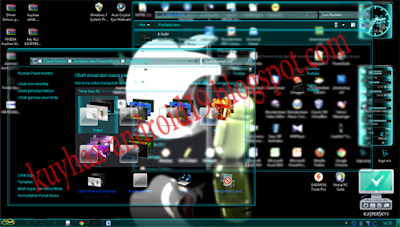 THEME TEMA WINDOWS 7 TRANSPARAN BLUE GLASS