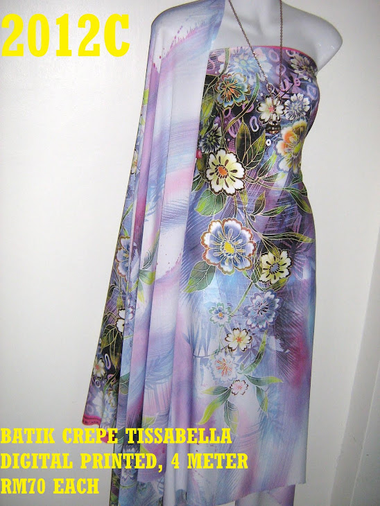 CTD 2012C: BATIK CREPE TISSABELLA DIGITAL PRINTED, EXCLUSIVE DESIGN, 4 METER