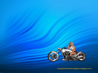 Harley Davidson free desktop wallpapers Blond Babe in Ripple Landscape wallpaper