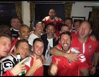 Ryan Giggs celebrates Salford City's promotion
