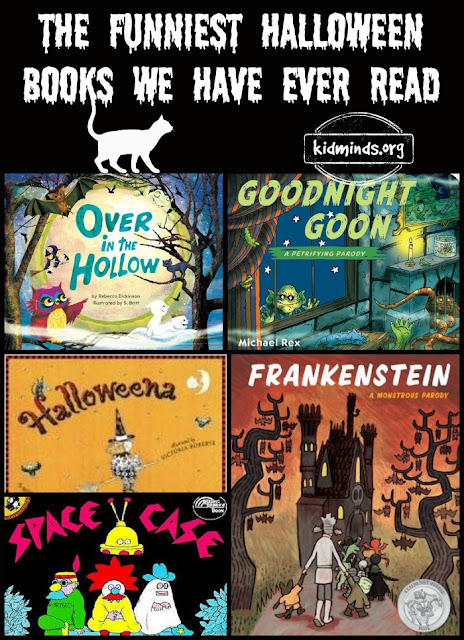 funny Halloween Books kids literature Halloween Jokes Goodnight Goon Space Case Halloweena Over in the Hollow