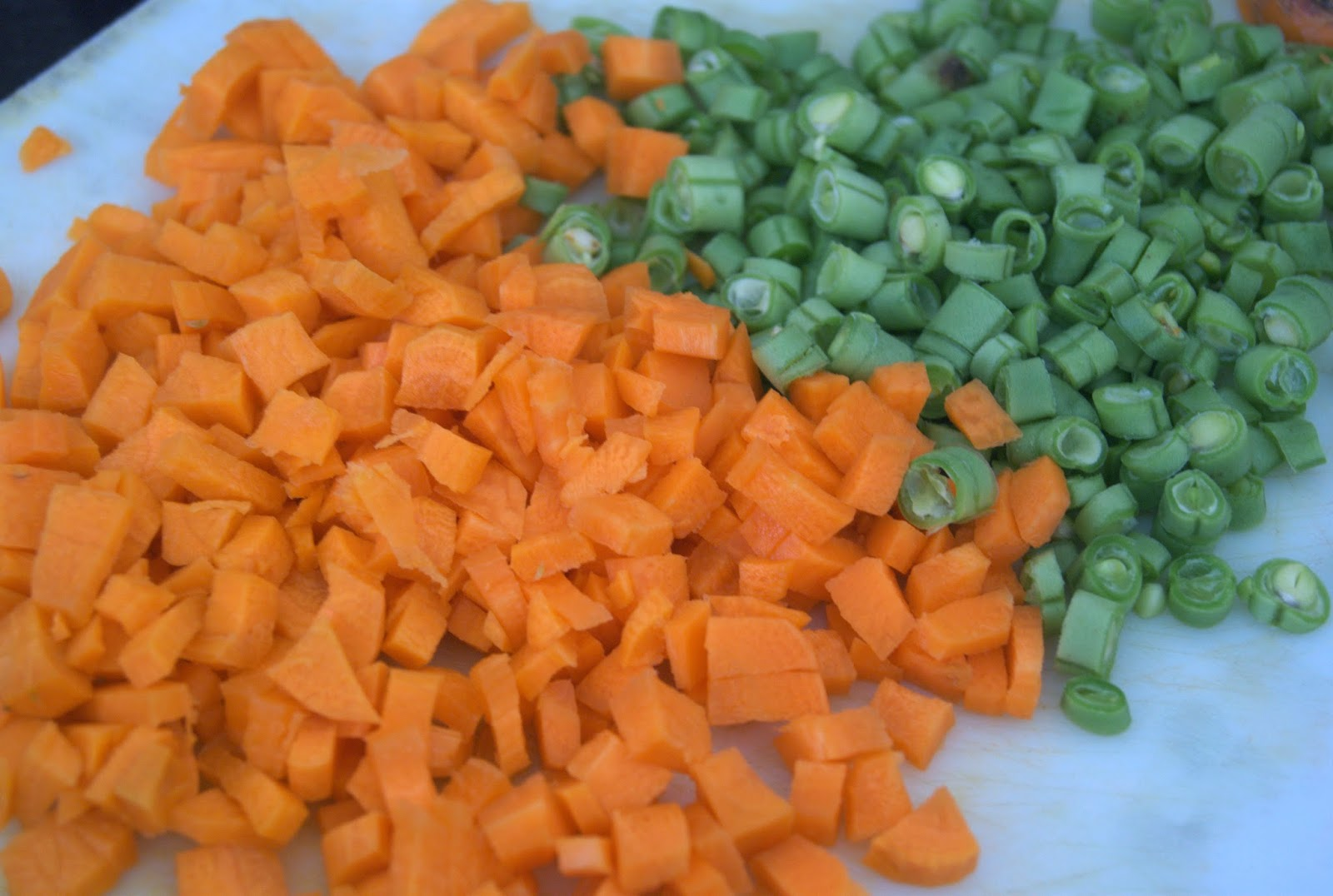 how to cook green beans and carrots in microwave