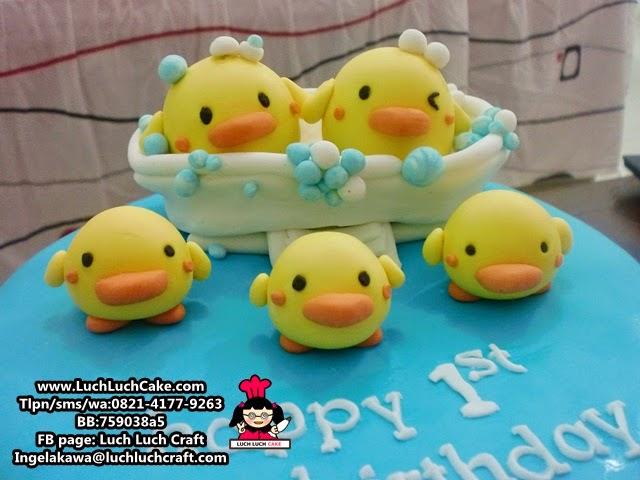 fondant 3d piyo piyo duck