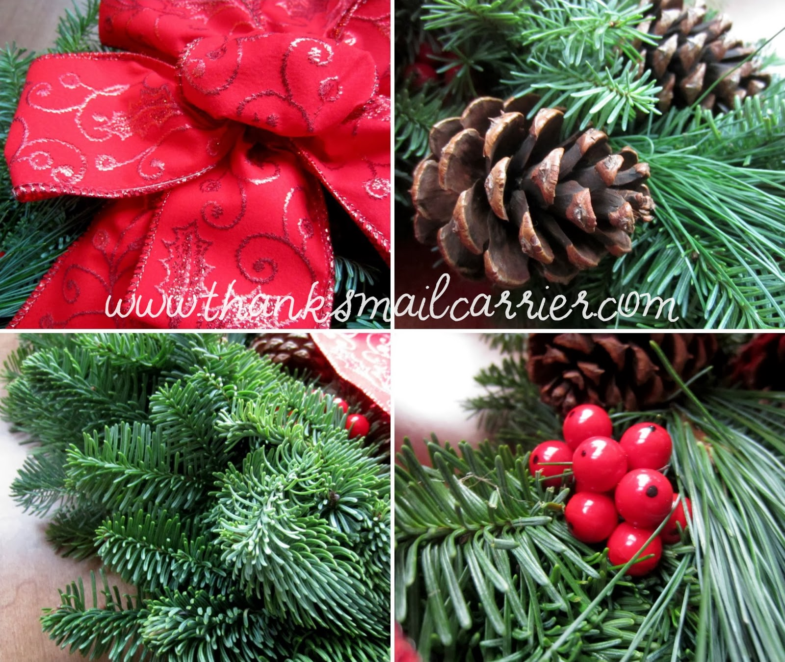 Christmas Forest wreath details