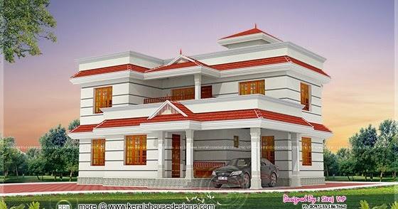1990 square feet 4 bhk house elevation design kerala for 4 bhk house plans kerala