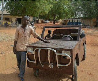 SS3 Student Who Makes Cars From Scrap Metals Hosted By Governor Of Kebbi State (Photos)