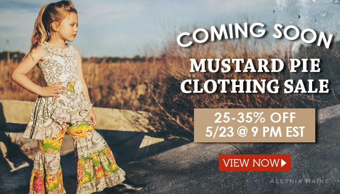 Mustard Pie Clothing Sale