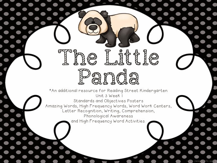 http://www.teacherspayteachers.com/Product/The-Little-Panda-Reading-Street-KINDERGARTEN-Unit-3-Week-1-1469609