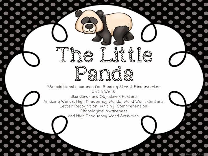 http://www.teacherspayteachers.com/Product/The-Little-Panda-Reading-Street-KINDERGARTEN-Unit-3-Week-1-1469609