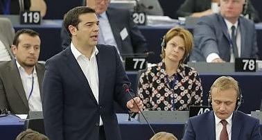 Sollevazione lo scialbo discorso di tsipras oggi al for Oggi al parlamento