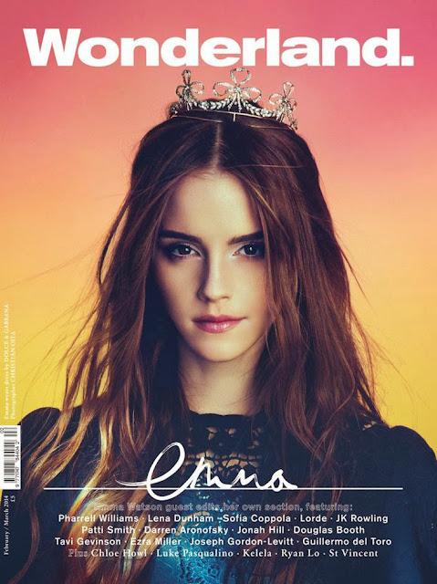 Emma Watson Wonderland magazine cover