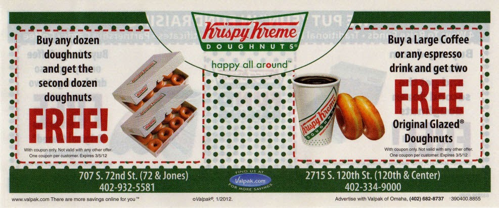 Free Birthday Krispy Kreme ~ Free printable coupons krispy kreme
