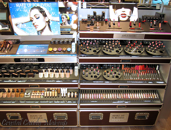 Boutique Make Up For Ever au Sephora Ste-Catherine - Rouge Artist, Aqua Lips, Lab Shine, Mat Velvet, Full Cover, Duo Mat, Lift Concealer, Super Matte Loose Powder