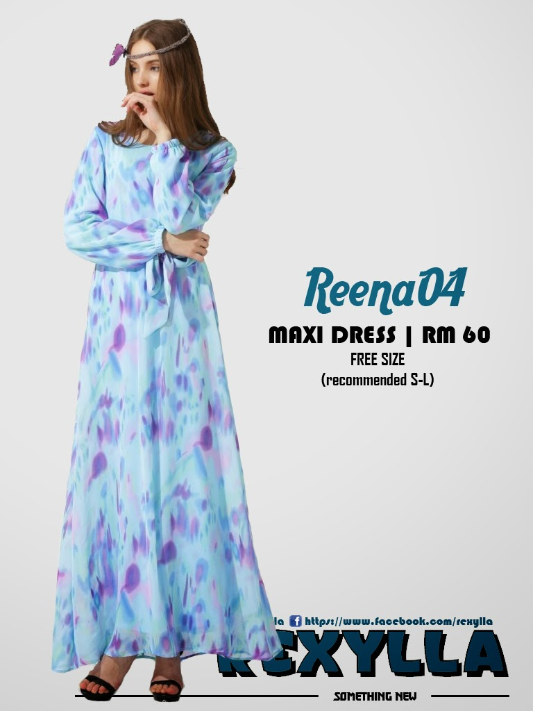 rexylla, maxi dress, printed dress, reena04