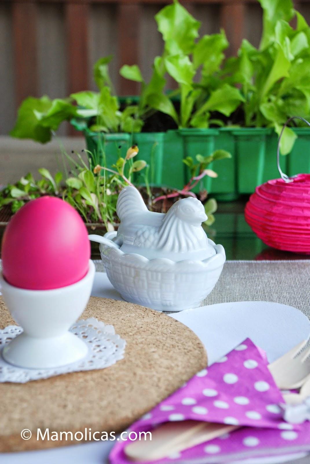 Mamolicas decoraci n mesa desayuno de pascua for Adornos de pascua