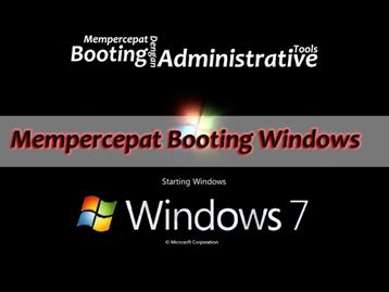 cara Mempercepat Booting Dengan administrative tools