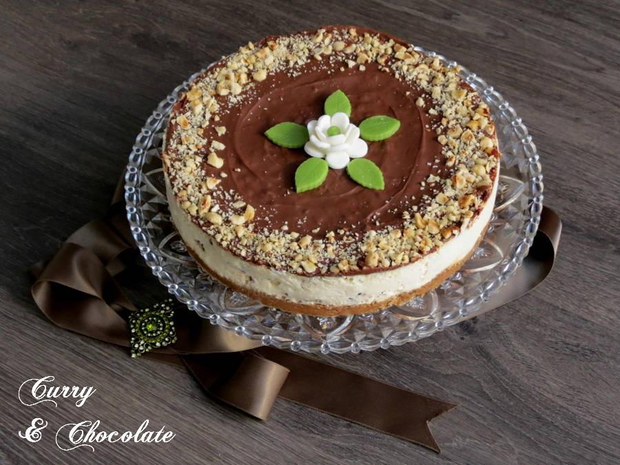 Tarta de queso con bombones Ferrero Rocher y Nutella – Ferrero Rocher and Nutella cheesecake