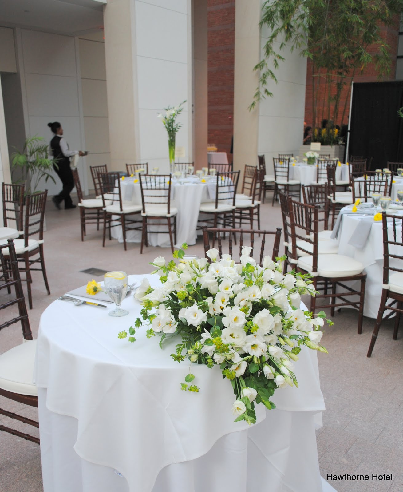 this past saturday we provided service for unique wedding at the peabody essex museum here are some photos of the set up in the atrium for your enjoyment