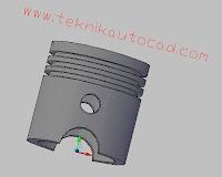 Cara Membuat Piston 3D Pada AutoCad