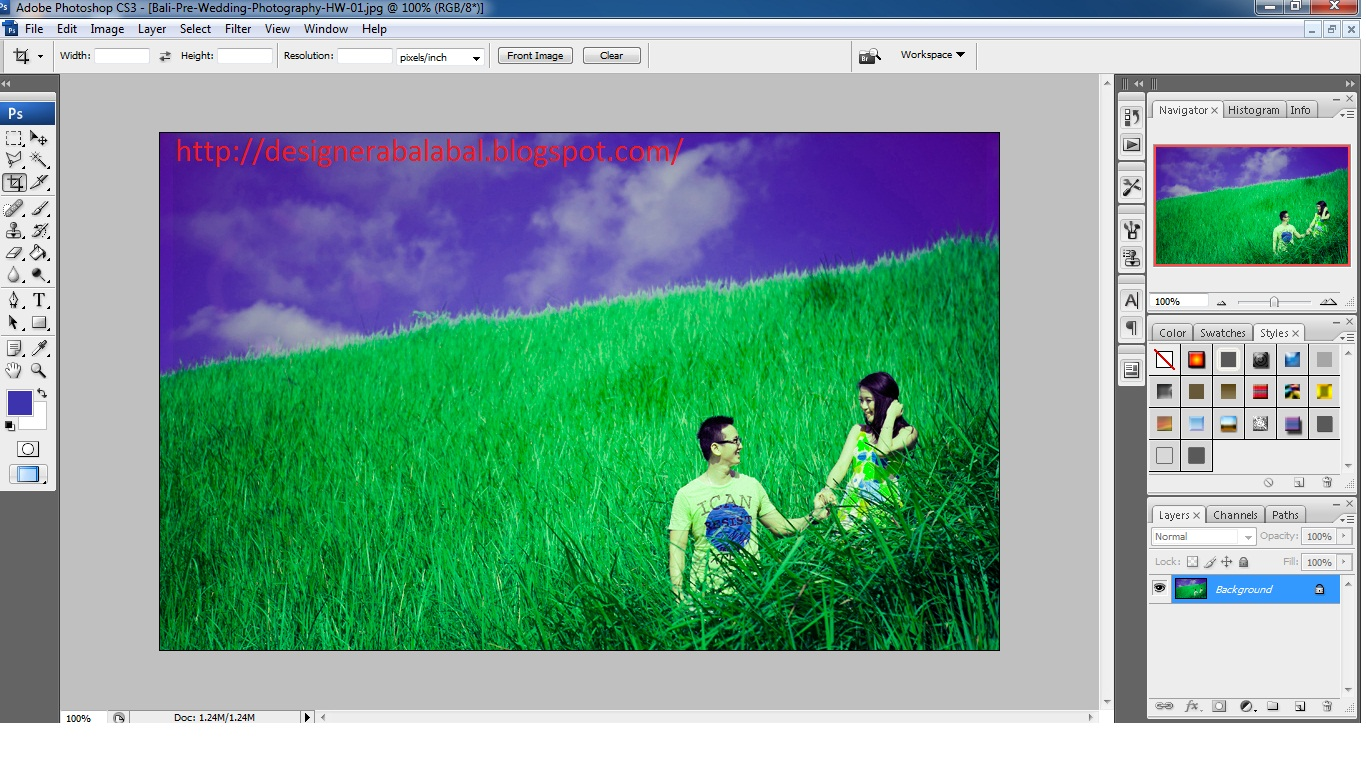 Cara Edit Foto Pre Wedding dengan Photoshop