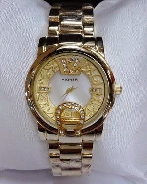 Jam Tangan Aigner Bari Batik Gold-White Dial