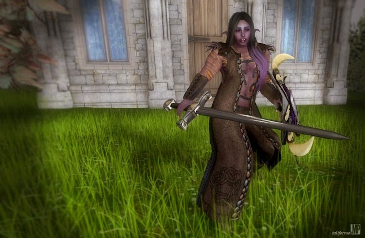 Secondlife Fantasy Fashion Review, Elven Warrior.