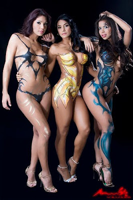 2011 Lastest Airbrush Body Painting