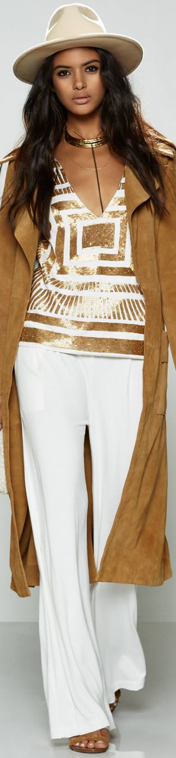MARA HOFFMAN Satin Embellished Top