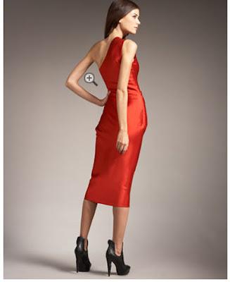 Wool-Silk One-Shoulder Vera Wang Evening Dresses