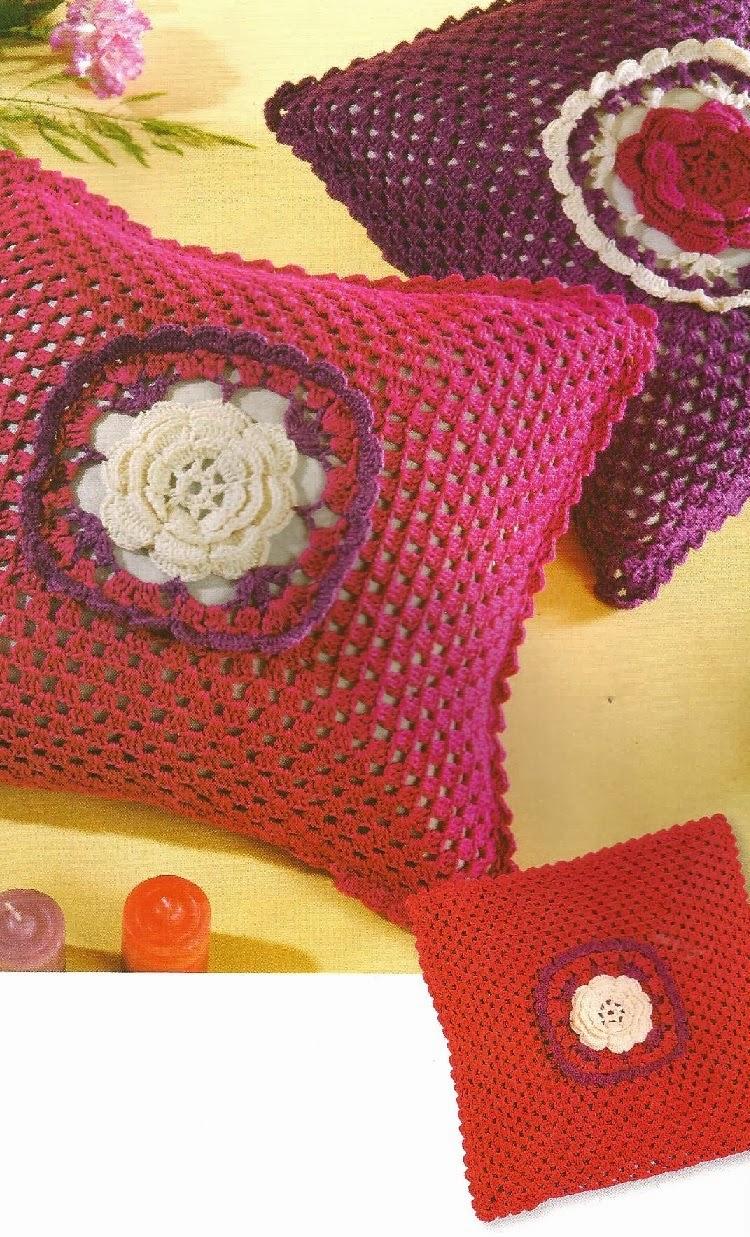 Tejidos a Crochet con Edith: Cojines Cuadrados a Crochet Modelo 1