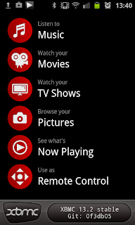 XBMC Remote Home Screen
