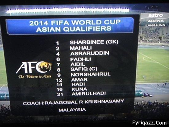 Gambar) Taiwan vs Malaysia | Perlawanan Kelayakan Piala Dunia 2014