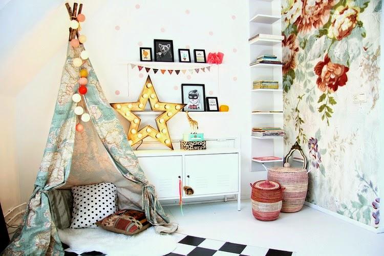 画像 : 【DIY】木と布で作る子供が喜ぶ素敵なテント「Teepee(ティピー)」の作り方とインテリア例 ...