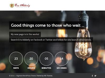 screenshot of erisadderly.com website under construction