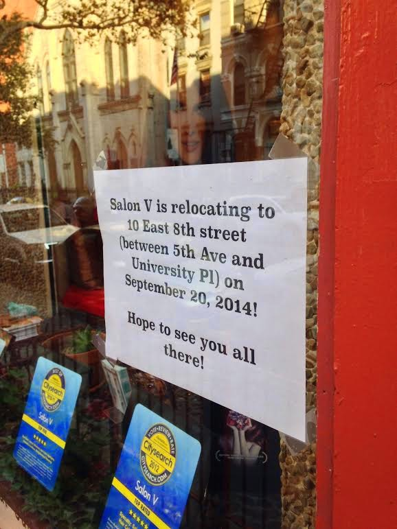 Ev grieve salon v leaving east 7th street after 10 years for 7th street salon