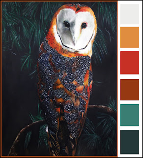 Barn Owl, Owl art, barn owl artwork, bird of prey, bird of prey painting, barn owl painting, barn owl pastel
